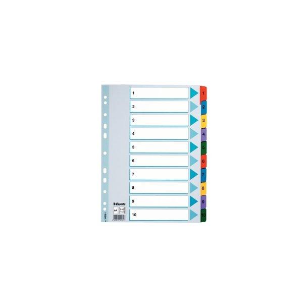 Faneblade - A4 1-10 Multicolour 10 stk