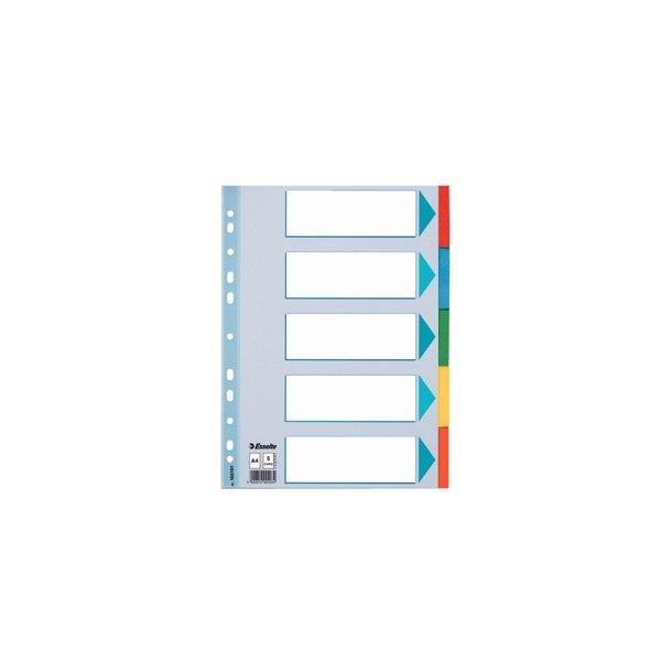 Faneblade - A4 5 tabs Multicolour 10 sæt