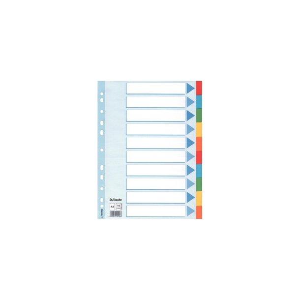 Faneblade - A4 10 tabs Multicolour 10 stk