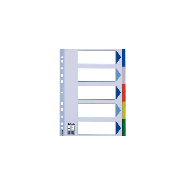 Faneblade - Esselte PP A4 5 tabs Multicolour 20 stk