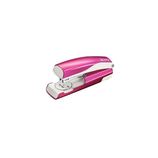 Hæftemaskine - Leitz 5502 Pink Metal - blister 1 stk