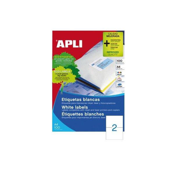 Etiket MultiApli A5 - til print i A4 printer - 210x148mm - 1 æske