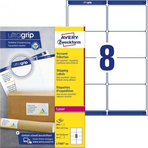 Pakkeetiketter med QuickPEEL & Ultragrip fra Avery