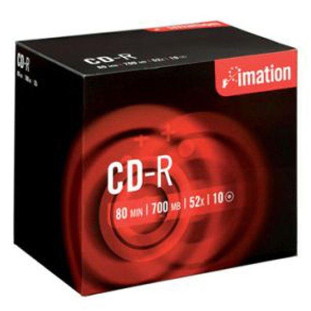 CD-rom 700 mb 80 min., 52xspeed - 10 stk