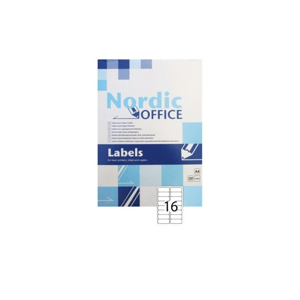 NOA etiket 99,1 x 34mm - 1 pakke, 100 ark