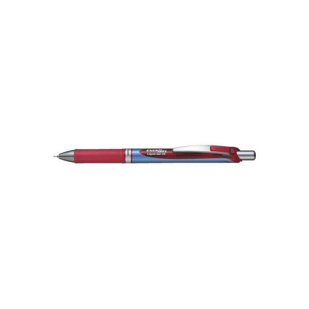 Gelpen Pentel energel rød, BLN75 needlepoint 0,5 - 12 stk