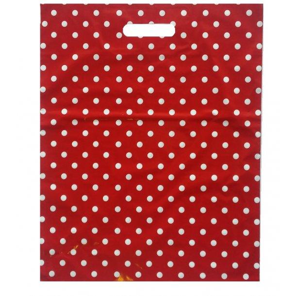 Bærepose rød 400 x 500 x 0,045 mm 100 stk