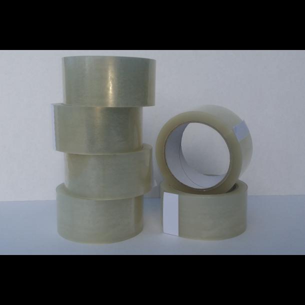 Pakketape, klar, PP acrylic, Low noice - 6 rll
