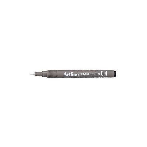 Tegnepen Artline Drawingpen 0,4 mm sort - 12 stk