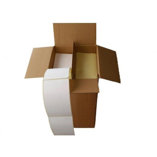Fragtetiketter - Thermo hvid falset 6000 stk