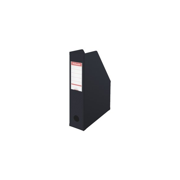 Tidsskriftsamler - PVC A4 70mm Sort 10 stk