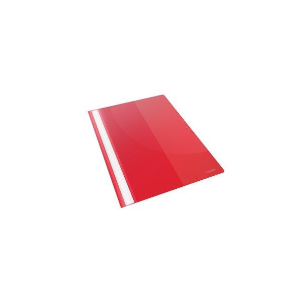 Tilbudsmapper - w/pocket A4 Red 25 stk