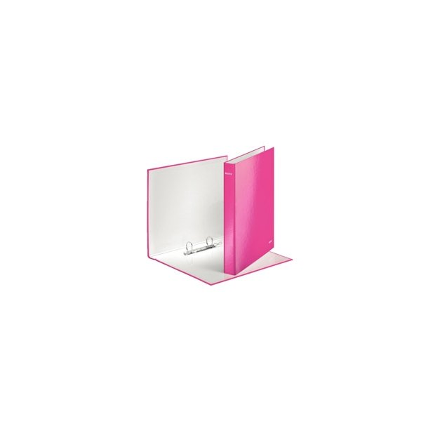 Ringbinder - Leitz WOW A4+ 2DR/25mm Pink 10 stk