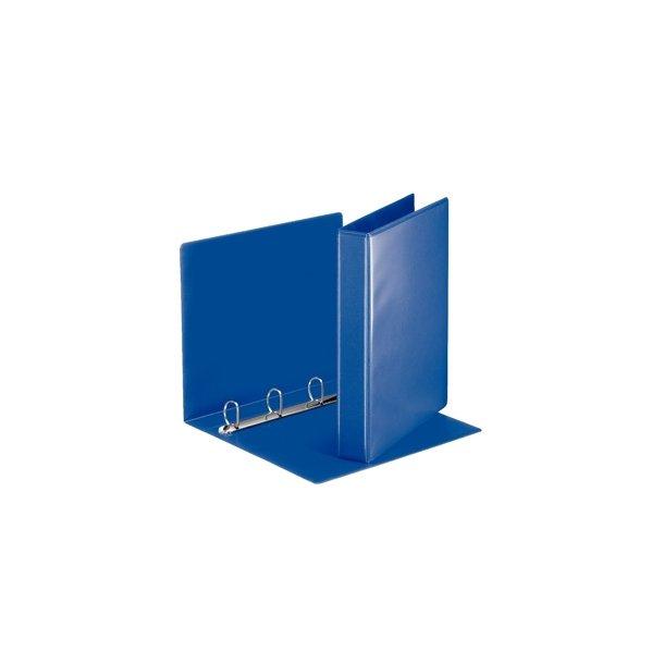 panoramabinder - Esselte A4 4DR/30mm w/2 pock. blå 10 stk