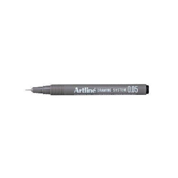 Tegnepen Artline Drawingpen 0,05 mm sort - 12 stk
