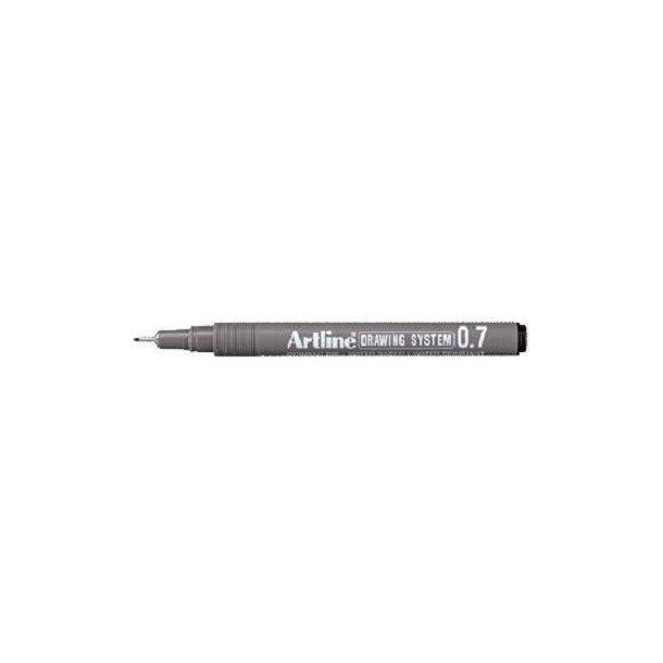 Tegnepen Artline Drawingpen, 0,7 mm sort