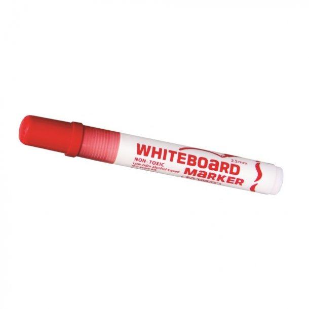 Whiteboard marker rød - 12 stk