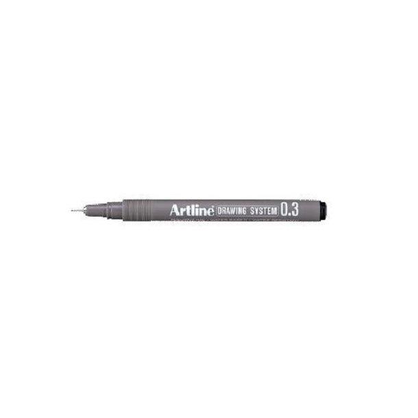 Tegnepen Artline Drawingpen, 0,3 mm sort