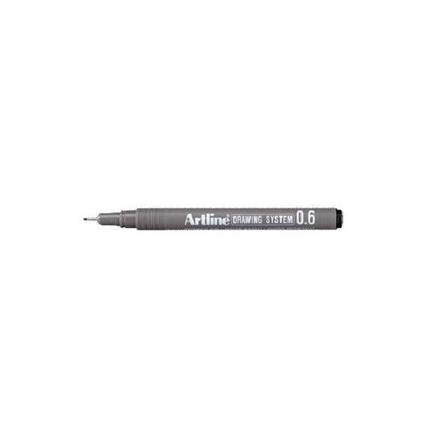 Tegnepen Artline Drawingpen, 0,6 mm sort