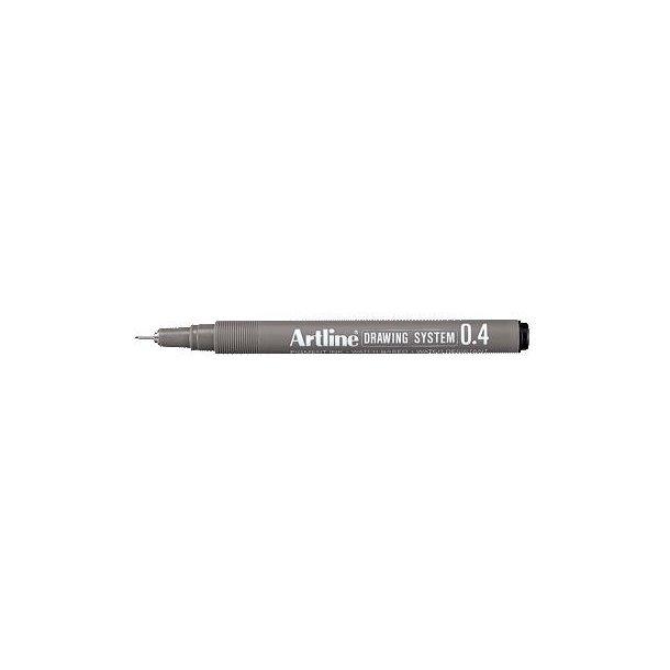 Tegnepen Artline Drawingpen 0,4 mm sort - 12 stk