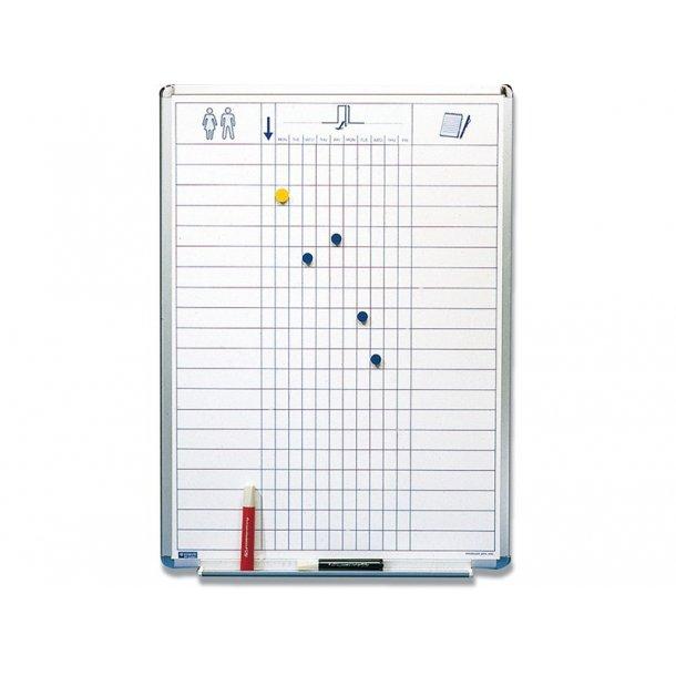 Whiteboard - Navnebræt, magnetisk skriveflade, 60 x 90 cm