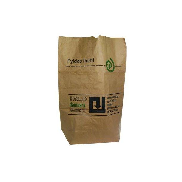 Affaldssække Papir - 50 stk HOLD DK REN - til genbrugsstationen