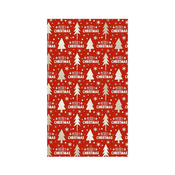 Gavepapir - Merry Christmas motiv, 57cm x 200m