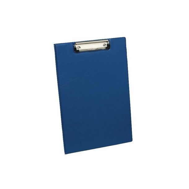 Clipboard A4 blå, m/dækside - 1 stk.