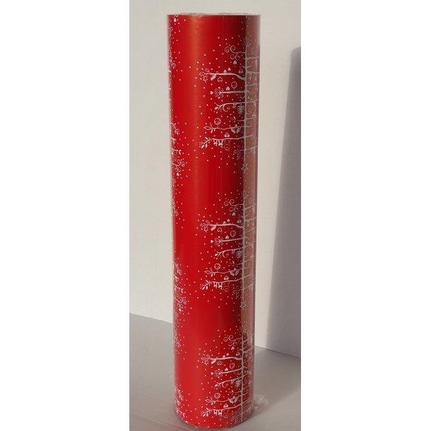 Gavepapir Julemotiv - juletræ rødt