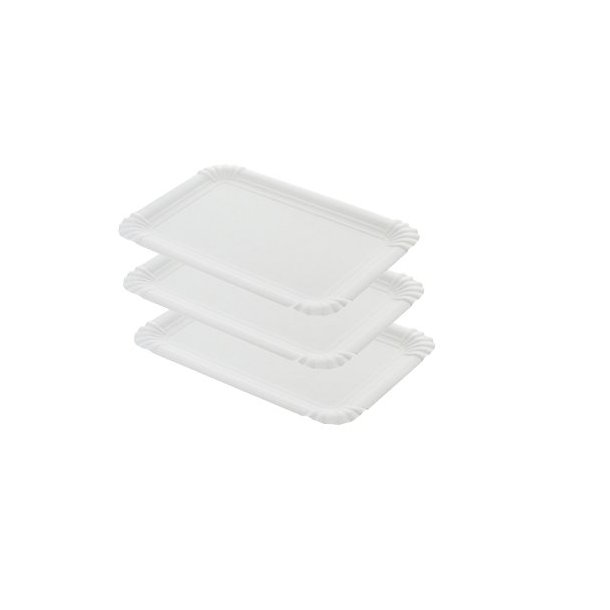 Pølsebakke hvide, bionedbrydelig, 13x20 cm - 250 stk