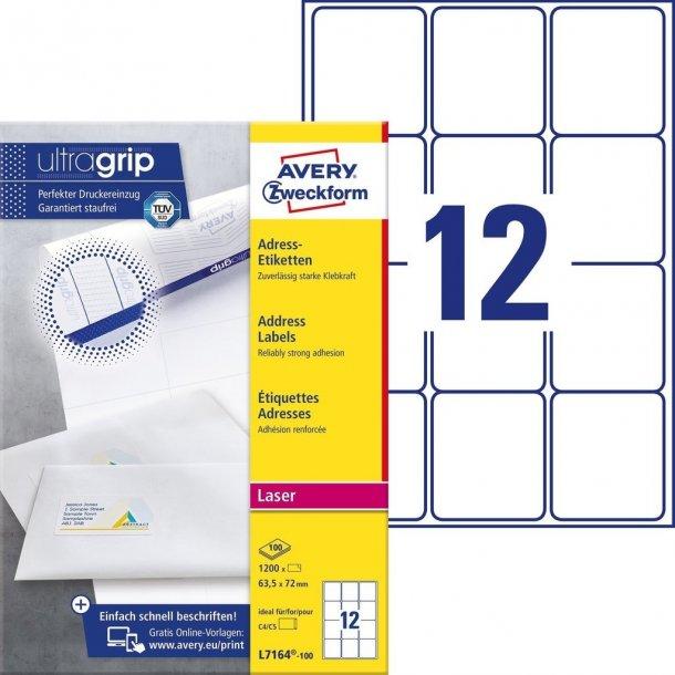 Etiketter med QuickPEEL™ & Ultragrip fra Avery