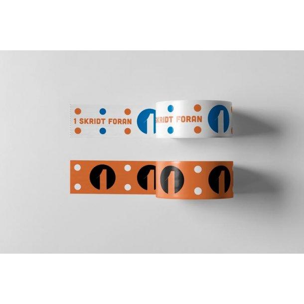 Logotape 2 farvet - Acryltape - 36 ruller