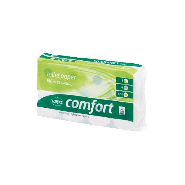Toiletpapir 2-lags hvid 30m, Comfort - 64 rll