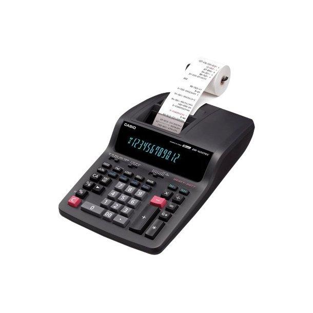 Bordregner Casio DR420TEC, 12 cifre sort/rød - 1 stk