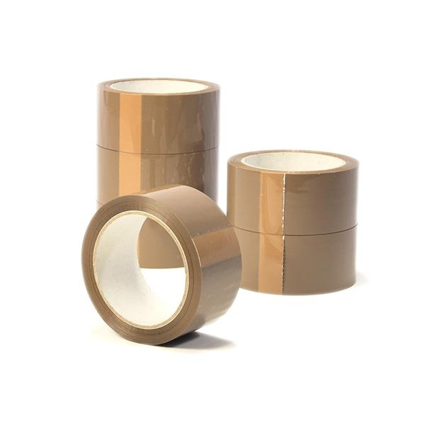 Pakketape, brun PP acrylic, Low noice - 6 rll