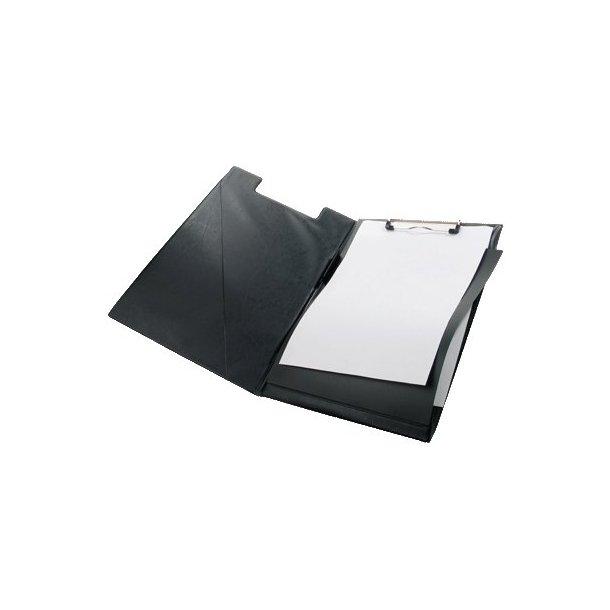 Clipboard A4 SORT, m/dækside - 1 stk.