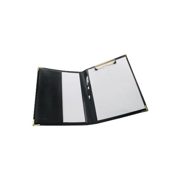 Clipboard kunstlæder sort A4 - 1 stk