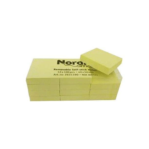 Memo-note blok 50x40mm. - 12 stk