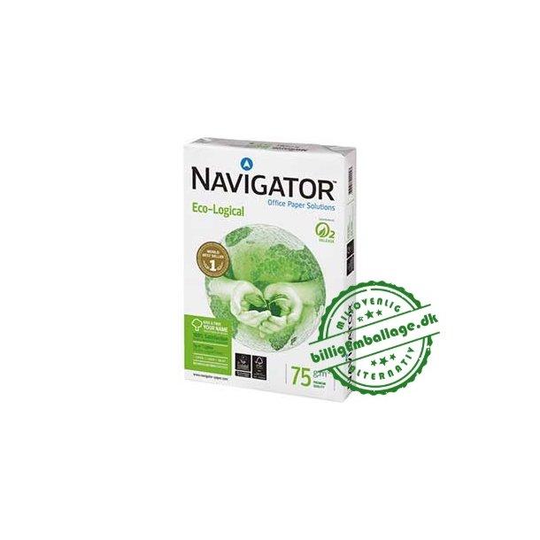 Kopipapir hvid 75g A4 Navigator Ecological/Økologisk