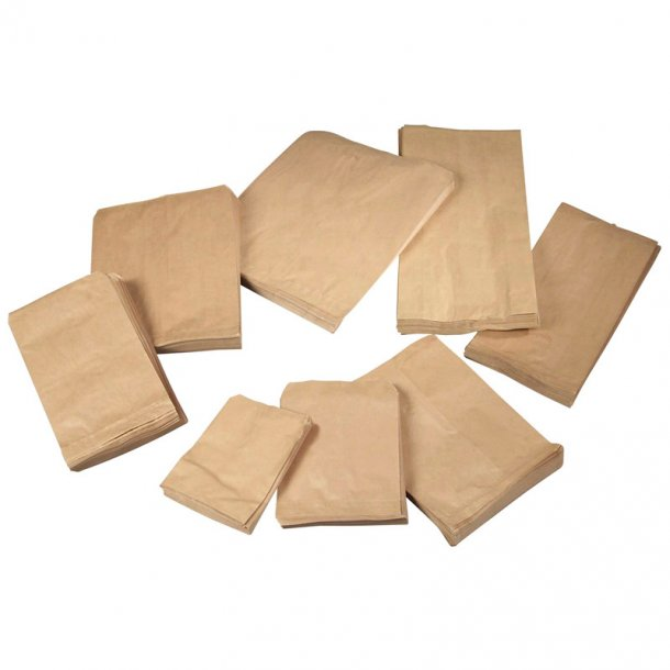 Bagerpose 1/2kg brun 170x215mm 40g 1000stk/pak